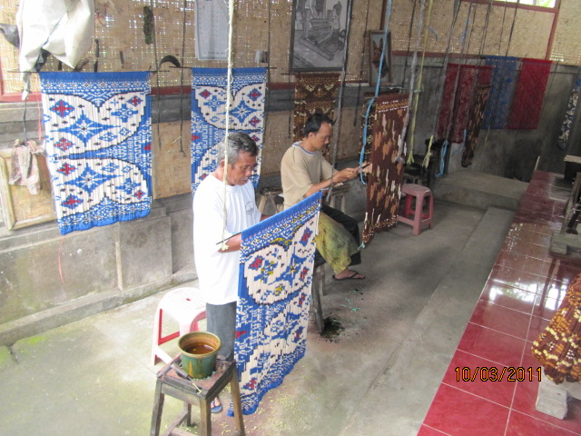 Ikat weaving.