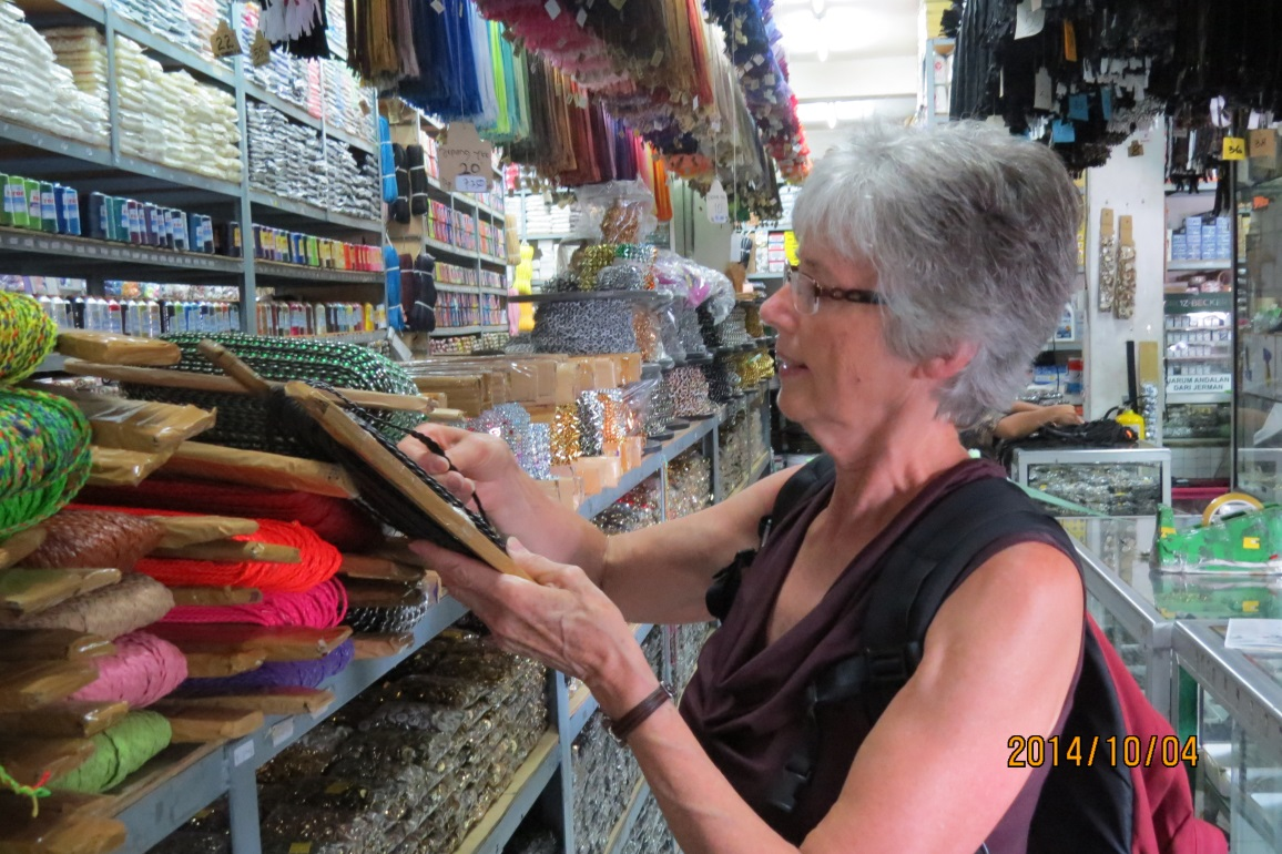 Two huge stores – one for sewing notions and one for craft supplies!