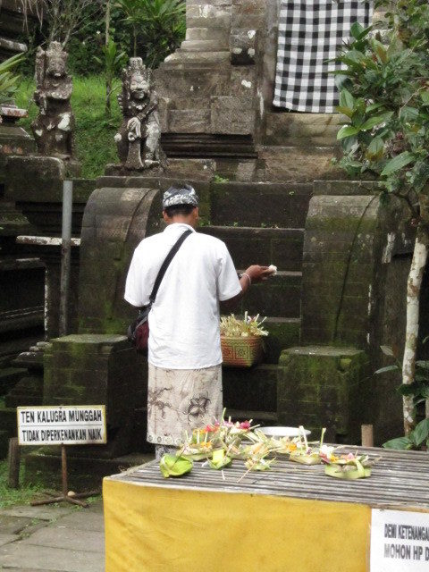 The Balinese ask their gods for blessings and directions in their lives as they set out their daily offerings.