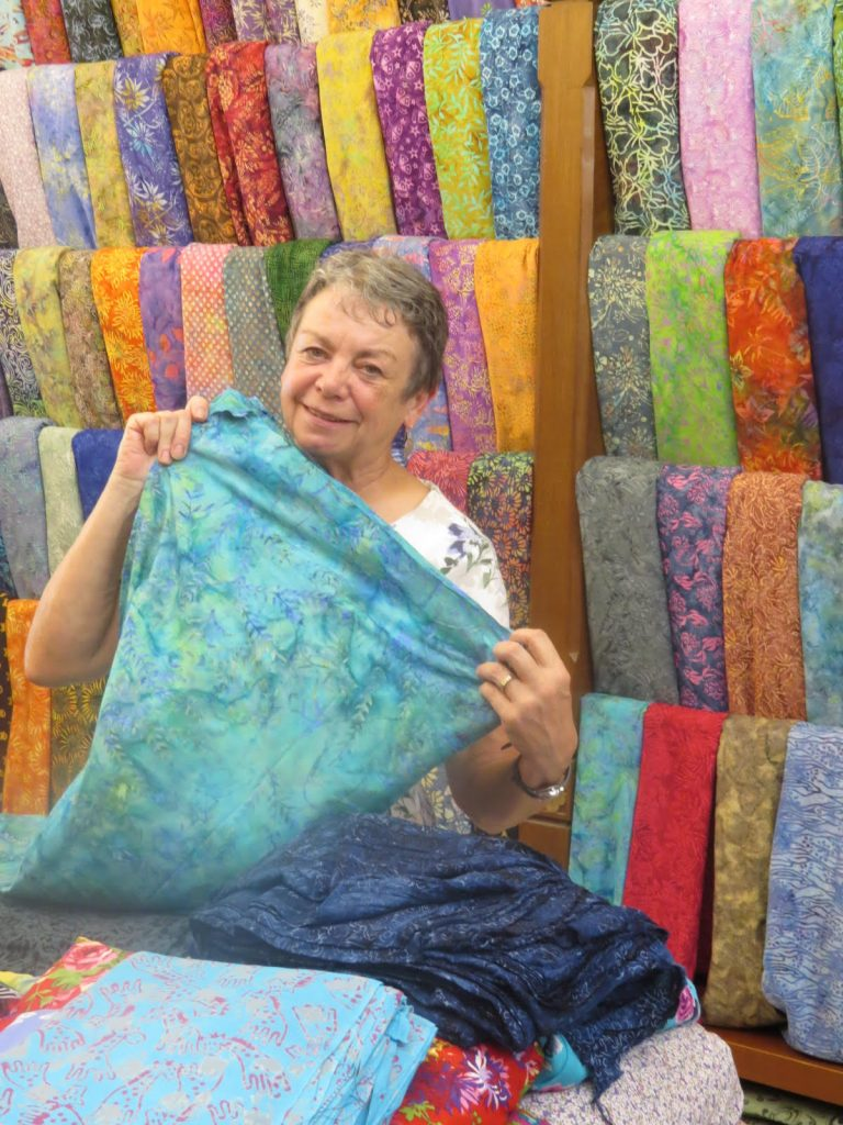 shopping for rayon batik in Bali